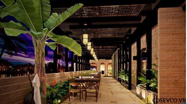 Mẫu nhà hàng chay thiết kế sang trọng - cao cấp - View 1