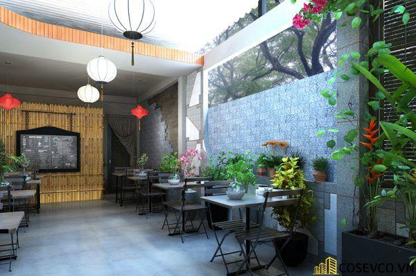 Thiết kế nhà hàng chay phong cách mộc đơn giản tinh tế - View 4