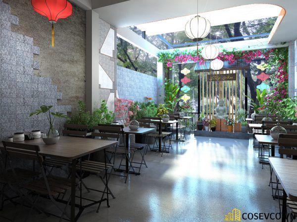 Thiết kế nhà hàng chay phong cách mộc đơn giản tinh tế - View 3