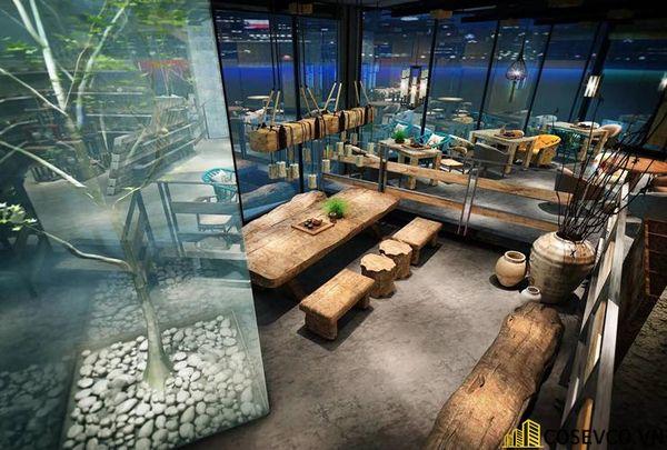Bố trí nội thất nhà hàng chay độc đáo - View 2