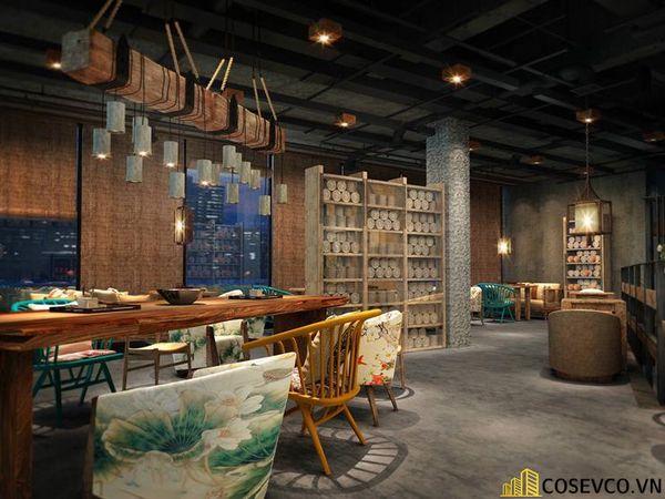 Bố trí nội thất nhà hàng chay độc đáo - View 1
