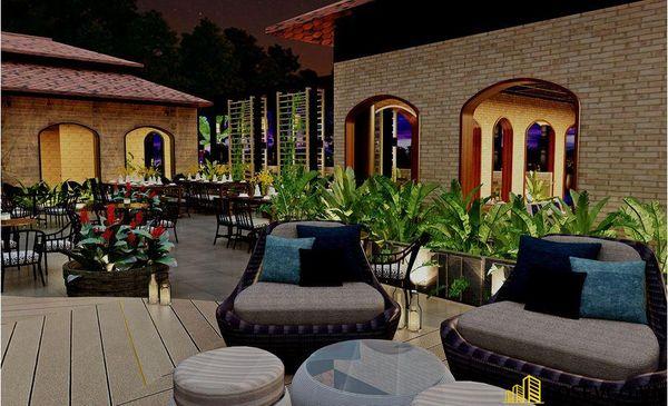 Mẫu nhà hàng chay thiết kế sang trọng - cao cấp - View 2