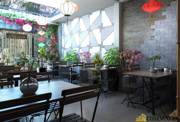 Thiết kế nhà hàng chay phong cách mộc đơn giản tinh tế - View 2