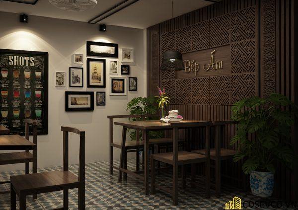 Thiết kế nhà hàng chay phong cách mộc đơn giản tinh tế - View 5