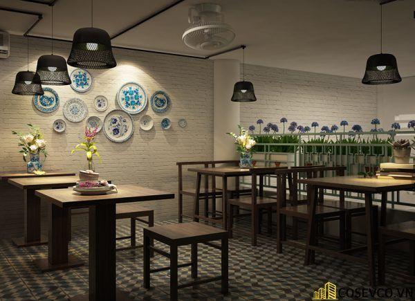 Thiết kế nhà hàng chay phong cách mộc đơn giản tinh tế - View 6