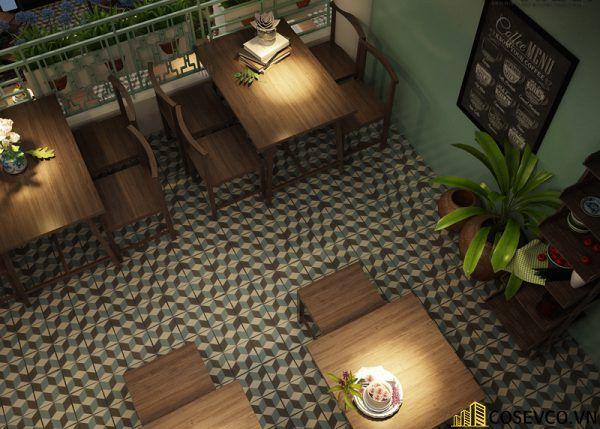 Thiết kế nhà hàng chay phong cách mộc đơn giản tinh tế - View 7