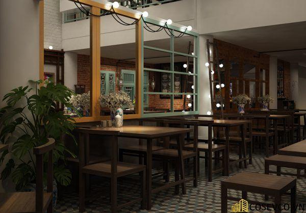 Thiết kế nhà hàng chay phong cách mộc đơn giản tinh tế - View 8