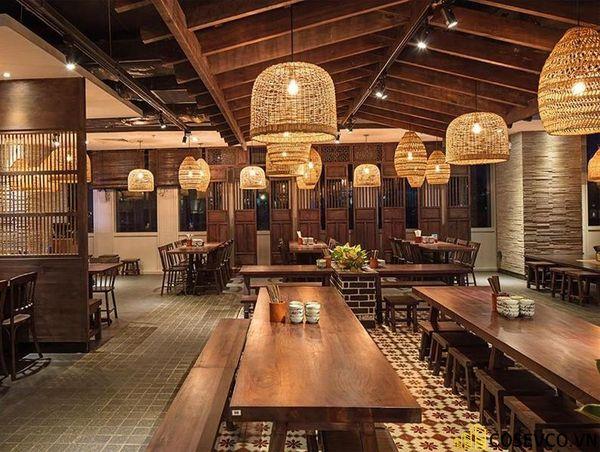 Thiết kế nhà hàng phong cách đồng quê nhưng vẫn mang đậm nét sang trọng tinh tế, tạo không gian thưởng thức ẩm thực thoải mái nhất tới khách hàng - View 17
