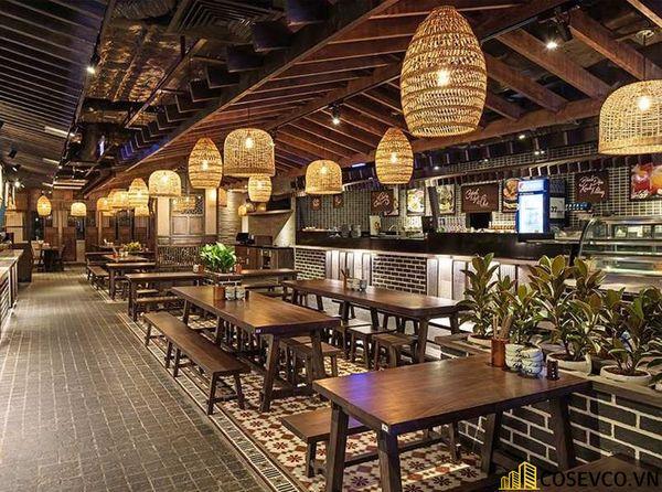 Thiết kế nhà hàng phong cách đồng quê nhưng vẫn mang đậm nét sang trọng tinh tế, tạo không gian thưởng thức ẩm thực thoải mái nhất tới khách hàng - View 18