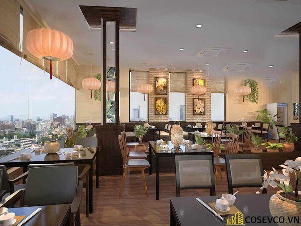 Thiết kế nhà hàng phong cách đồng quê nhưng vẫn mang đậm nét sang trọng tinh tế, tạo không gian thưởng thức ẩm thực thoải mái nhất tới khách hàng - View 7