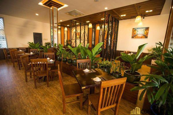 Thiết kế nhà hàng phong cách đồng quê nhưng vẫn mang đậm nét sang trọng tinh tế, tạo không gian thưởng thức ẩm thực thoải mái nhất tới khách hàng - View 8