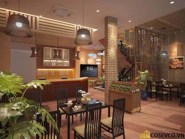 Thiết kế nhà hàng phong cách đồng quê nhưng vẫn mang đậm nét sang trọng tinh tế, tạo không gian thưởng thức ẩm thực thoải mái nhất tới khách hàng - View 9