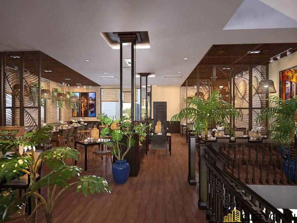 Thiết kế nhà hàng phong cách đồng quê nhưng vẫn mang đậm nét sang trọng tinh tế, tạo không gian thưởng thức ẩm thực thoải mái nhất tới khách hàng - View 10