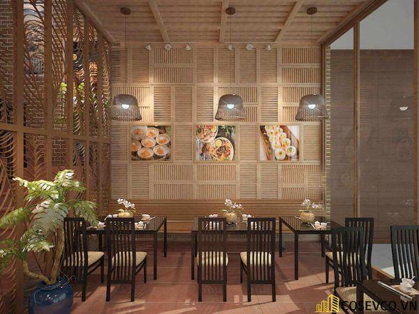 Thiết kế nhà hàng phong cách đồng quê nhưng vẫn mang đậm nét sang trọng tinh tế, tạo không gian thưởng thức ẩm thực thoải mái nhất tới khách hàng - View 11
