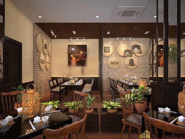 Thiết kế nhà hàng phong cách đồng quê nhưng vẫn mang đậm nét sang trọng tinh tế, tạo không gian thưởng thức ẩm thực thoải mái nhất tới khách hàng - View 12