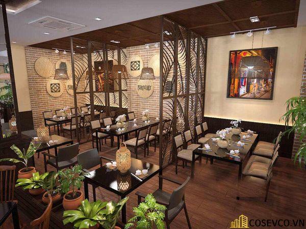 Thiết kế nhà hàng phong cách đồng quê nhưng vẫn mang đậm nét sang trọng tinh tế, tạo không gian thưởng thức ẩm thực thoải mái nhất tới khách hàng - View 13