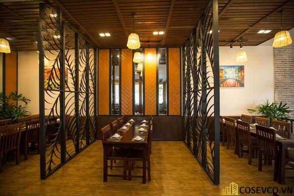 Thiết kế nhà hàng phong cách đồng quê nhưng vẫn mang đậm nét sang trọng tinh tế, tạo không gian thưởng thức ẩm thực thoải mái nhất tới khách hàng - View 16