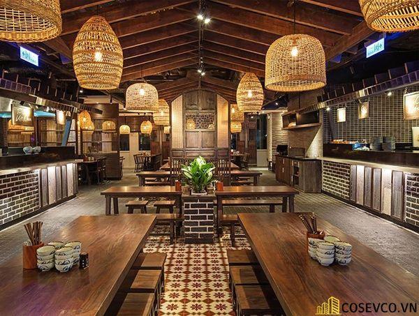 Thiết kế nhà hàng phong cách đồng quê nhưng vẫn mang đậm nét sang trọng tinh tế, tạo không gian thưởng thức ẩm thực thoải mái nhất tới khách hàng - View 20
