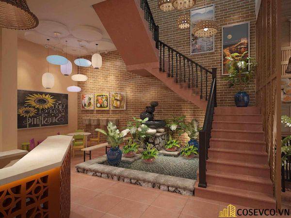 Thiết kế nhà hàng phong cách đồng quê nhưng vẫn mang đậm nét sang trọng tinh tế, tạo không gian thưởng thức ẩm thực thoải mái nhất tới khách hàng - View 1