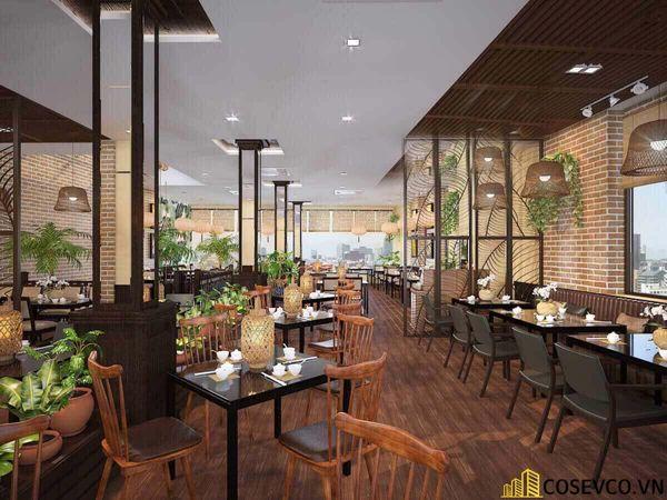 Thiết kế nhà hàng phong cách đồng quê nhưng vẫn mang đậm nét sang trọng tinh tế, tạo không gian thưởng thức ẩm thực thoải mái nhất tới khách hàng - View 2