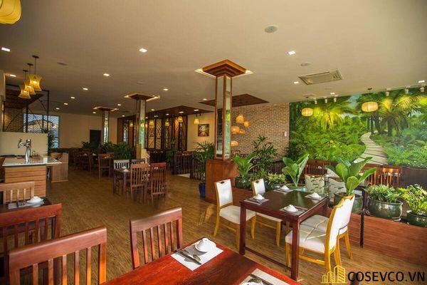 Thiết kế nhà hàng phong cách đồng quê nhưng vẫn mang đậm nét sang trọng tinh tế, tạo không gian thưởng thức ẩm thực thoải mái nhất tới khách hàng - View 3