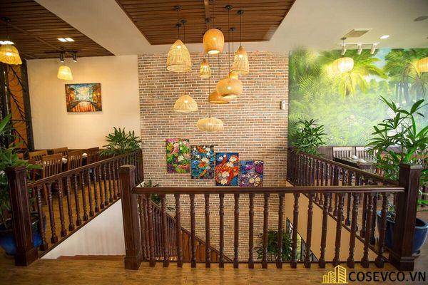 Thiết kế nhà hàng phong cách đồng quê nhưng vẫn mang đậm nét sang trọng tinh tế, tạo không gian thưởng thức ẩm thực thoải mái nhất tới khách hàng - View 5