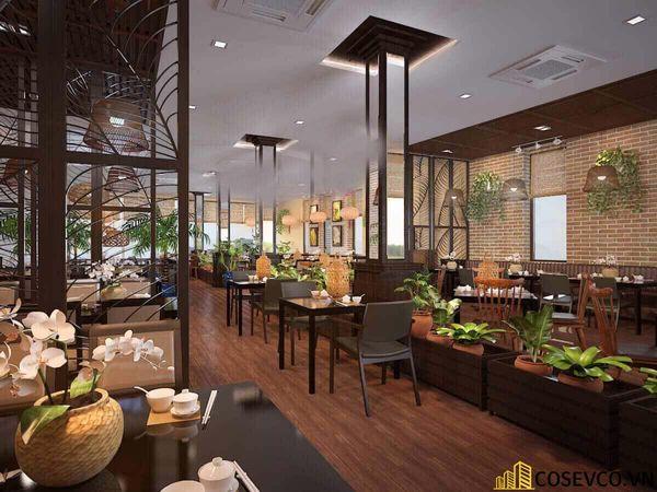 Thiết kế nhà hàng phong cách đồng quê nhưng vẫn mang đậm nét sang trọng tinh tế, tạo không gian thưởng thức ẩm thực thoải mái nhất tới khách hàng - View 6