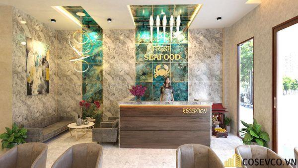 Phối cảnh thiết kế nhà hàng hải sản sang trọng - View1