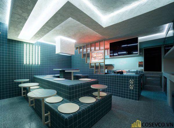 Bố trí thiết kế nhà hàng Hàn Quốc độc đáo ấn tượng - View 1