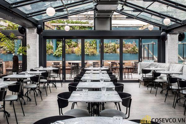 Mẫu thiết kế nhà hàng khung thép đẹp ấn tượng - View 2
