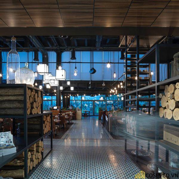 Mẫu thiết kế nhà hàng khung thép đẹp ấn tượng - View 6