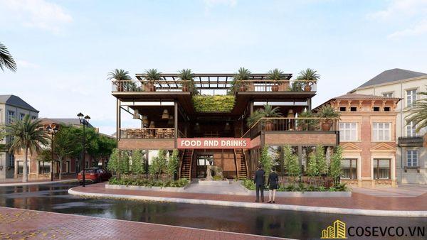 Mẫu thiết kế nhà hàng khung thép sang trọng - View 2