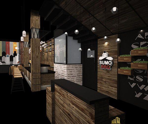 Nhà hàng lẩu nướng kết cấu khung thép đơn giản tinh tế - View 5
