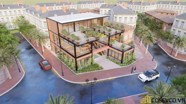 Mẫu thiết kế nhà hàng khung thép sang trọng - View 1