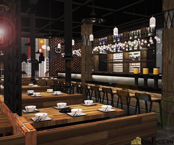 Nhà hàng lẩu nướng kết cấu khung thép đơn giản tinh tế - View 4
