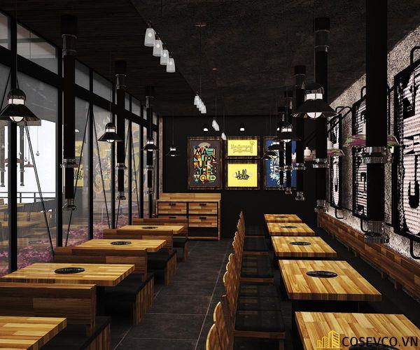 Nhà hàng lẩu nướng kết cấu khung thép đơn giản tinh tế - View 3