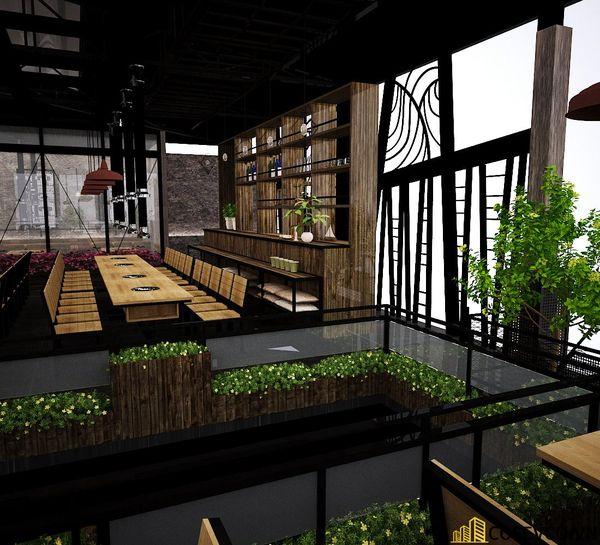 Nhà hàng lẩu nướng kết cấu khung thép đơn giản tinh tế - View 7