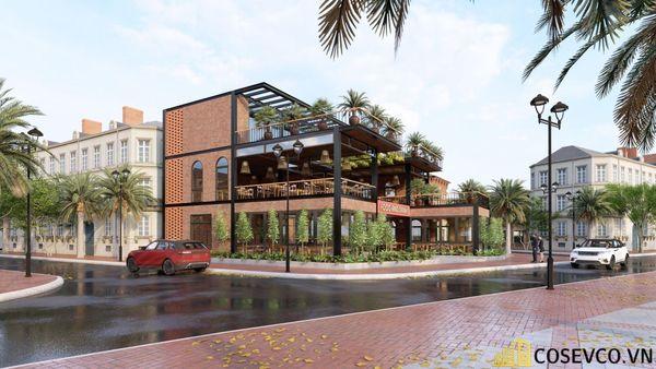 Mẫu thiết kế nhà hàng khung thép sang trọng - View 4