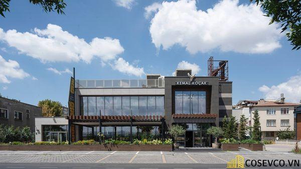 Mẫu thiết kế nhà hàng khung thép đẹp ấn tượng - View 1