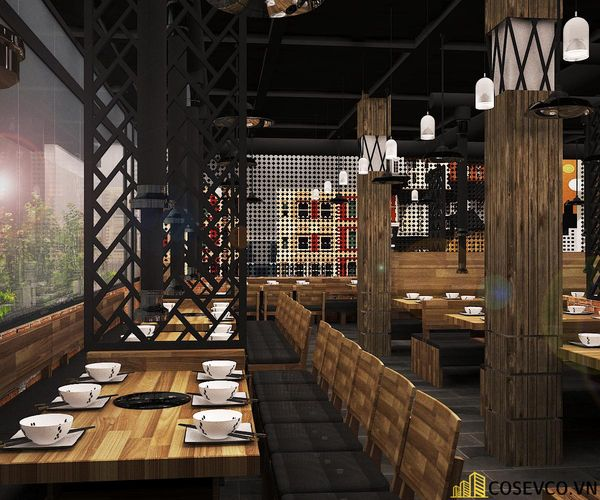 Phối cảnh thiết kế nhà hàng lẩu nướng đơn giản nhưng cực kỳ sang trọng - View 18
