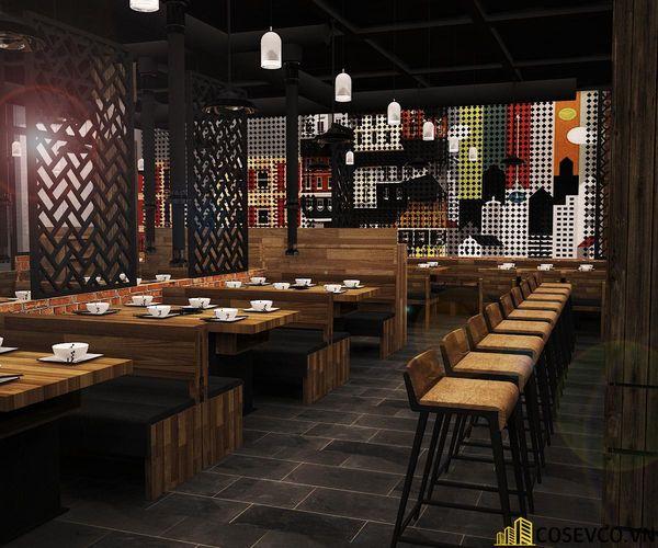 Phối cảnh thiết kế nhà hàng lẩu nướng đơn giản nhưng cực kỳ sang trọng - View 2
