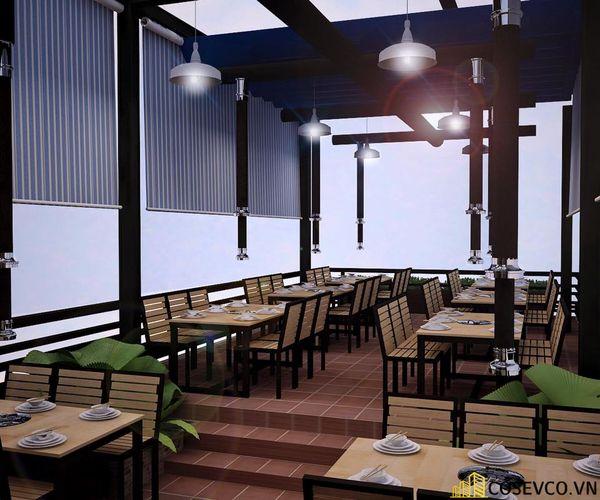 Phối cảnh thiết kế nhà hàng lẩu nướng đơn giản nhưng cực kỳ sang trọng - View 5