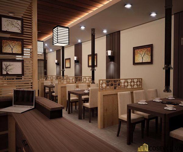 Phối cảnh thiết kế nhà hàng lẩu nướng đơn giản nhưng cực kỳ sang trọng - View 8
