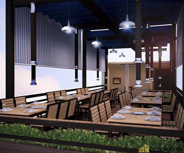 Phối cảnh thiết kế nhà hàng lẩu nướng đơn giản nhưng cực kỳ sang trọng - View 9