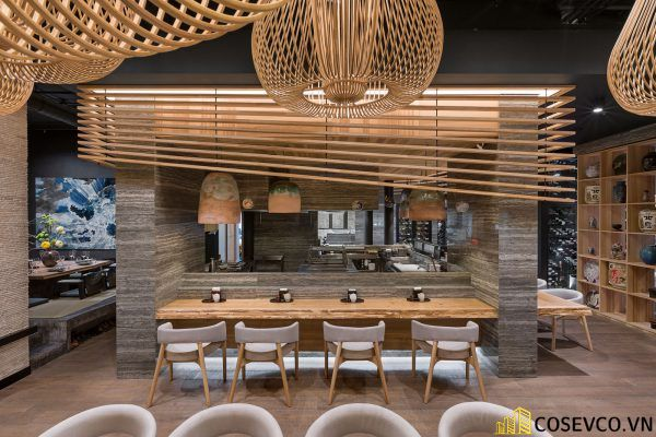 Mẫu thiết kế nhà hàng Nhật hiện đại - View 3