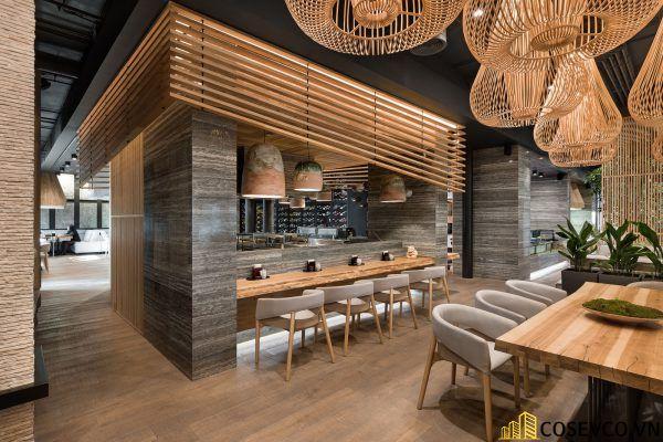 Mẫu thiết kế nhà hàng Nhật hiện đại - View 2