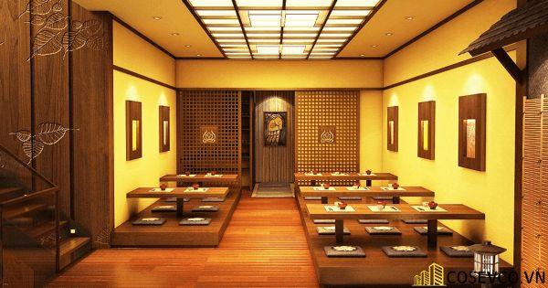 Bố trí nội thất nhà hàng Nhật sang trọng - View 4