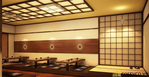 Bố trí nội thất nhà hàng Nhật sang trọng - View 6