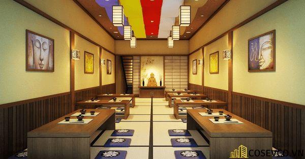 Bố trí nội thất nhà hàng Nhật sang trọng - View 7