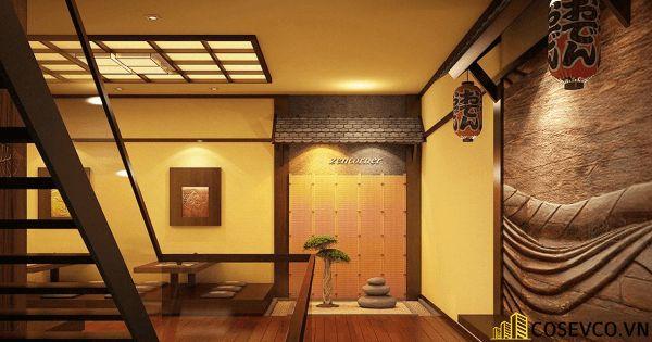 Bố trí nội thất nhà hàng Nhật sang trọng - View 3